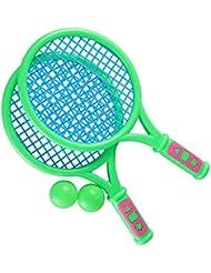 2b7028a44 LIOOBO 1 par de Raquetas de Tenis para niños Raquetas de bádminton de  plástico Accesorios de