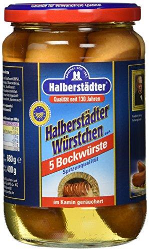 Halberstadt bockwurst Brühwürstchen, 6er Pack (6 x 400 g)