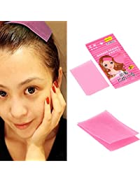 Housweety 1 Emballage(2PCs) Fille Rose Front Cheveux Frange Prise Velcro Autocollant Support 6x9cm