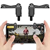 #10: ACcmART Gaming Trigger Fire Button Gaming L1R1 Shooter Controller PUBG Black for Smartphones. (Type 1)(Black)