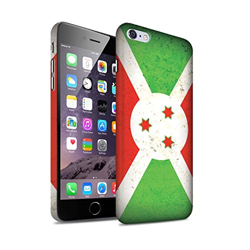 STUFF4 Matte Snap-On Hülle / Case für Apple iPhone 7 / Ägypten/Ägypter Muster / Afrika Flagge Kollektion Burundi/Burundisch