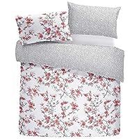 Blumenmuster Tulpe Blumen Geometrisch Pink King Size 6 Stück Bettwäsche Set Bettwaren, -wäsche & Matratzen