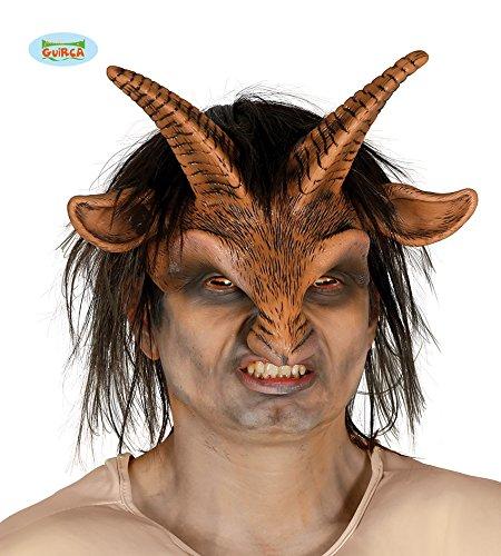 79 - Halb-Maske Faun mit Haaaren (Dumme Kostüm)