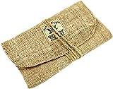 Guru-Shop Hanf Tabakbeutel, Tabaktasche, Drehtasche, Herren/Damen, Beige, Size:One Size, 10x18 cm, Stifttaschen & Tabak Beutel