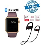 Supreno Golden A1 Bluetooth SmartWatch With WhatsApp, Facebook, Twitter, Pedometer, Remote Camera, SIM Card & Sleep Monitoring Support With Wireless Stealth Mini Twin Portable Bluetooth Headset Compatible With Xiaomi Mi, Apple IPhone & IPad, Samsu