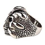 Sorella'z Vintage Antique Silver Tone Skull Ring for Men's (Size US 10)