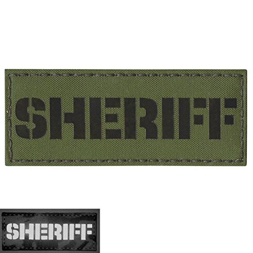 Olive Drab OD Infrared IR 2x5 Tactical Morale SWAT Fastener Patch -