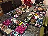 Indische handgefertigte neue Vintage Patchwork Esstisch Tischsets aus Baumwolle, Tischläufer, Tischdecke, Küchen- & Tischwäsche, Schreibtisch-Tischpads, handgemachtes Tischset (5-teiliges Set)