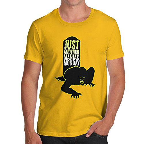 TWISTED ENVY Herren T-Shirt Maniac Monday Print X-Large Gelb