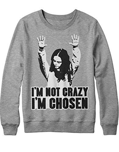 Sweatshirt Orange is The New Black I'm NOT Crazy I'm Chosen C210050 Grau XXL