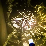 Lampada da comodino Regalo di compleanno Luce notturna Lampada da proiezione a led Luce stellare Usb Creativa @ Lovers ciclismo_No rotazione/Luce gialla calda normale