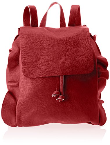 Chicca Borse Damen 8804 Rucksackhandtaschen, 27x35x17 cm Rosso (Rosso)