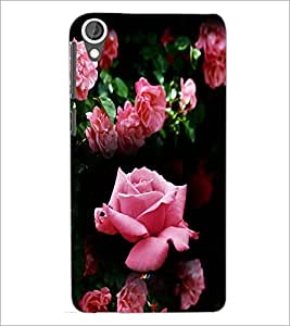 PrintDhaba Roses D-4163 Back Case Cover for HTC DESIRE 820 (Multi-Coloured)