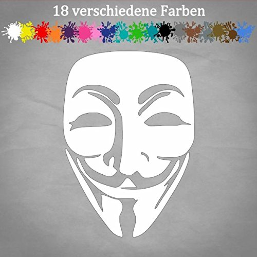 x11cm Aufkleber Golf Maske Auto Hack Guy Fawkes Occupy Sticker Decal in 18 Farben ()