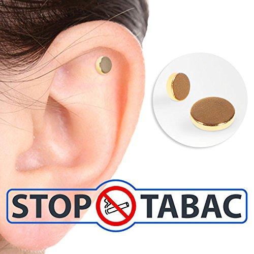Beenden Sie das Rauchen Aufhören Patch-Zerosmoke Ohr Magnet-Therapie Akupressur Ohr Magnet Health Care Artikel - Rauchen Patch