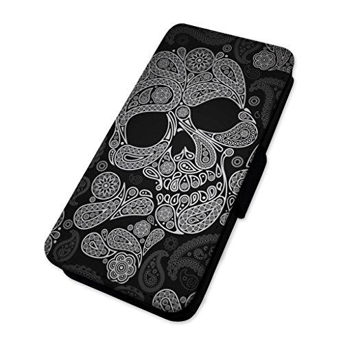 Mexican Candy Skull–Totenkopf Muster–Flip-Telefon Schutzhülle, Sony Xperia Z5