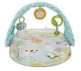 Fisher-Price DYW46 Traumbärchen Erlebnisdecke Krabbeldecke mit, ab nehmbarem Musikspielzeug und 5 Rasseln Babyerstausstattung, ab 0 Monaten