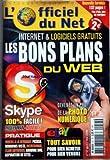 OFFICIEL DU NET (L') [No 57] du 01/04/2006 - INTERNET ET LOGICIELS GRATUITS - LES BONS PLANS DU WEB - DEVENEZ UN PRO DE LA PHOTO NUMERIQUE - EBAY - TOUT SAVOIR POUR BIEN ACHETER ET BIEN VENDRE...