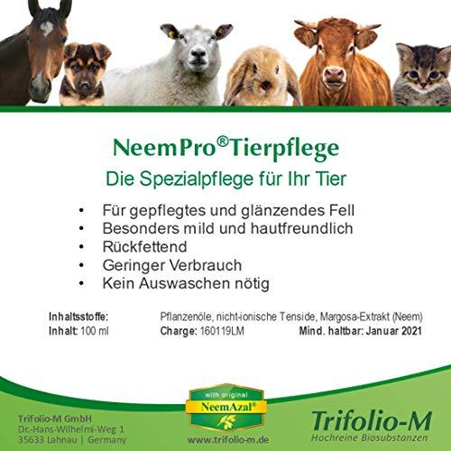 NeemPro Tierpflege 100 ml für gepflegtes Fell Haustier Hund Shampoo mit Margosaextrakt Neem ohne Auswaschen - 4