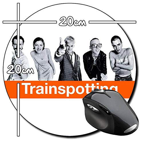 Trainspotting Ewan McGregor Jonny Lee Miller Mauspad Round Mousepad PC