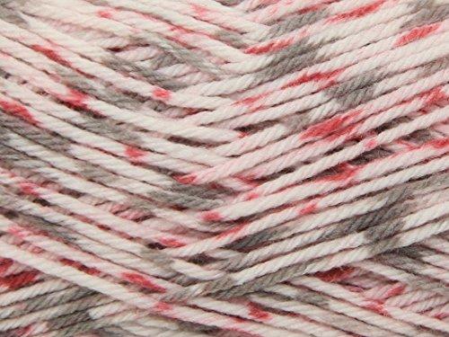 Sirdar Snuggly Peekaboo DK Knitting Yarn 104 Pinky Dots. 50g. by Sirder
