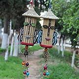 Generic Hot Saving Pot Bell Pendants Handmade Crafts Ethnic Straw Hat Wind Chimes 50CM