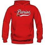 I'm a Patriot #1 Premium-Hoodie American Football Hoodies Super Bowl Pats Kapuzenpullover Herren, Farbe:Rot;Größe:XXL