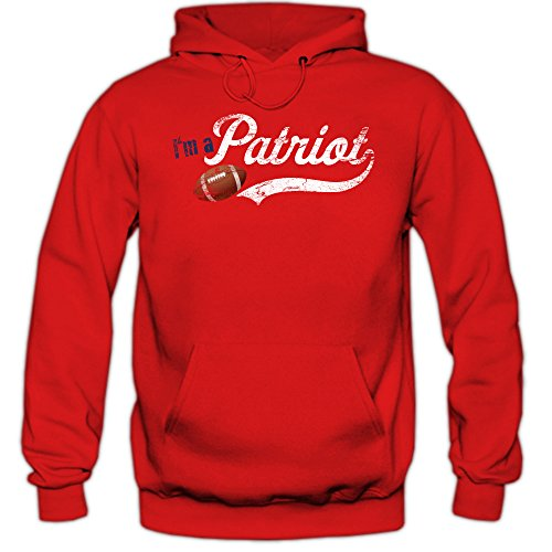 I'm a Patriot #6 Hoodie | Herren | Super Bowl | Play Offs | Football Hoodies | USA | Kapuzenpullover, Farbe:Graumeliert (Greymelange F421);Größe:L (Boston Patriots Sweatshirt)