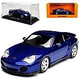 alles-meine.de GmbH Porsche 911 996 Turbo Coupe Metallic Blau 1997-2004 1/43 Minichamps Maxichamps Modell Auto