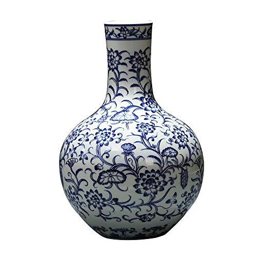 Cxp Boutiques Stil Jingdezhen Keramik bemalt handbemalt blau und weiß Porzellan Vase Decke chinesische Studie Wohnzimmer Dekoration Elegant -