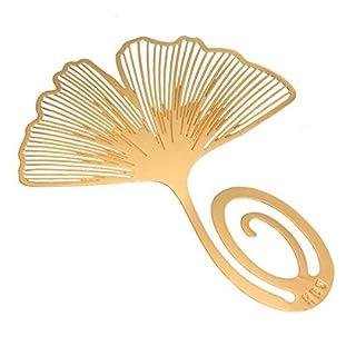 ADAALEN Lesen goldene Ginkgo Blatt Metallbookmark Buch Kennzeichen Aufkleber