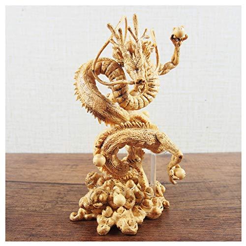LLKOZZ Dragon Ball Juguete Estatua Shenlong Modelo de Anime, decoración de Oficina en casa de Juguete -15CM Juguete (Color : Amarillo)