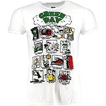 Green Day Dookie RRHOF Weiß T-shirt Offiziell Zugelassen Musik