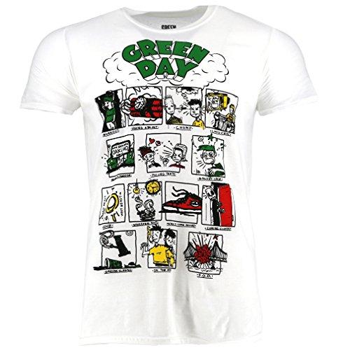 Green Day Dookie RRHOF blanco Camiseta Oficial Con licencia música