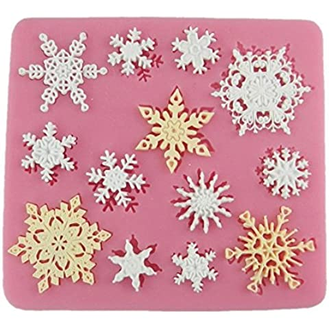 Andonger 3D silicone Snowflake muffa del fondente del silicone Zucchero Mini Mold Craft Stampo Diy Cake Decorating