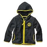 BVB Kinder Baby Fleecejacke, schwarz/gelb, 110/116, 2466529