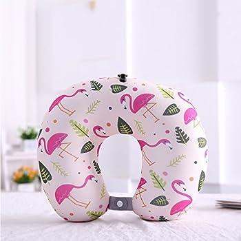 Boyann Flamingo Mikroperlen Nackenhörnchen U-förmigen Reisekissen Bücherkissen Muster 9 2
