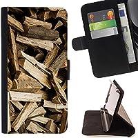 For Samsung Galaxy S6 EDGE (NOT S6) Case , Registri modello Brown Logger - Portafoglio in pelle della Carta di Credito fessure PU Holster Cover in pelle case