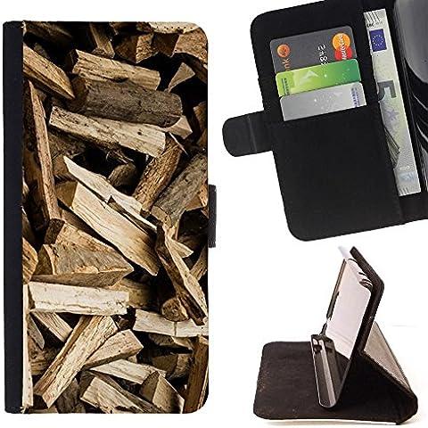 For Samsung Galaxy Core Prime / SM-G360 Case , Registri modello Brown Logger - Portafoglio in pelle della Carta di Credito fessure PU Holster Cover in pelle case