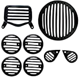 #6: AllExtreme Plastic (PVC) Grill for Royal Enfield Bullet Standard 350 & 500 (Black, Set of 8)