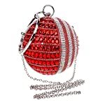 Round Handbag Ladies Diamonds Evening Bag Dress Evening Bag - clutches