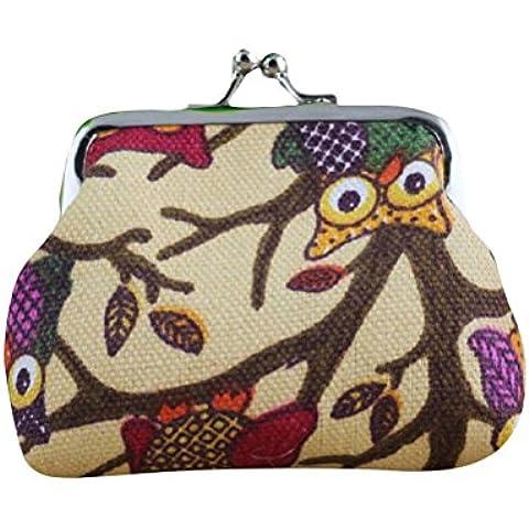 Amlaiworld Donna portafoglio piccolo Hasp gufo borsa