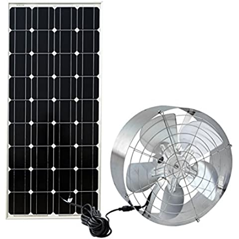 ECO-WORTHY pannello Ventilatore a energia solare, 25 W, ideale per aerazione áticos, ecc., L07M100-SV40-1