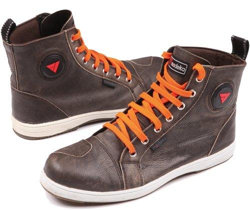 Modeka LANE Motorradstiefel Sneaker Leder - braun Größe 43