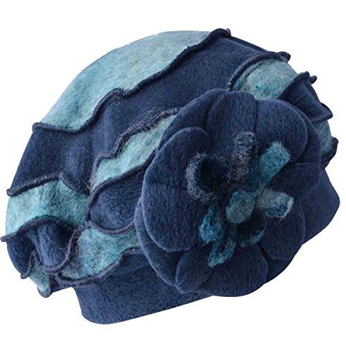 ra Filz Trilby Hut,Blue-OneSize (Filz Fedoras)