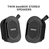 JABEES BEATBOX MINI TWIN IPX4 WATERPROOF, WIRELESS STEREO SPEAKERS, PORTABLE SPEAKERS WITH TWS (TRUE WIRELESS STEREO)