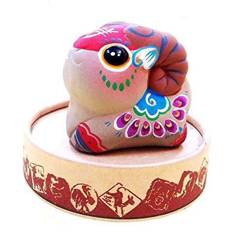 Preisvergleich Produktbild Figurines Lehmskulptur Stern Ornamente Chinese-Eigenschaft Spielzeug Ton