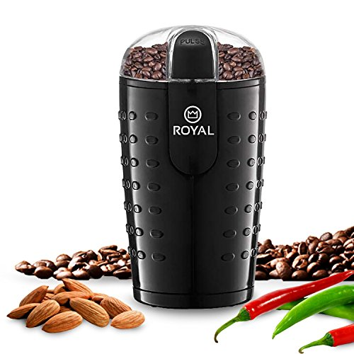 Royal Electric Coffee Bean Grinder Espresso Spices Nuts Herbs Grinder 150W Power 51it6s3KhEL