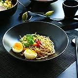 SLW Japanische Keramik Reis Schüssel Küche Geschirr Schüssel Matt Schwarz Salat Schüssel Hause Schüssel 9,75 Zoll