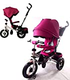 Little Tiger 4-in-1-Kinder-Dreirad mit drehbarem Sitz und verstellbarer Rückenlehne, violett
